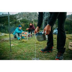 Fiambrera campamento itinerante MH500 inox + revest. antiadher. 4 personas 3,5 L