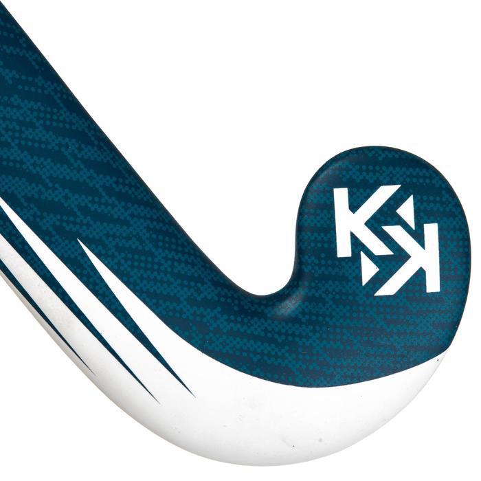 Zaalhockeystick voor kinderen/tieners 100% glasvezel mid bow FH500 blauw