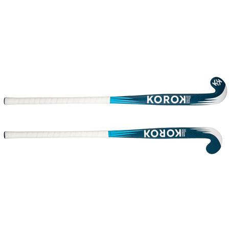 FH500 100% Fibreglass Mid Bow Indoor Hockey Stick Blue - Kids/Teens