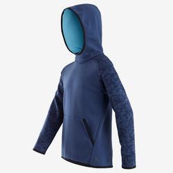 Sweat capuche chaud 100 garçon GYM ENFANT bleu imprimé