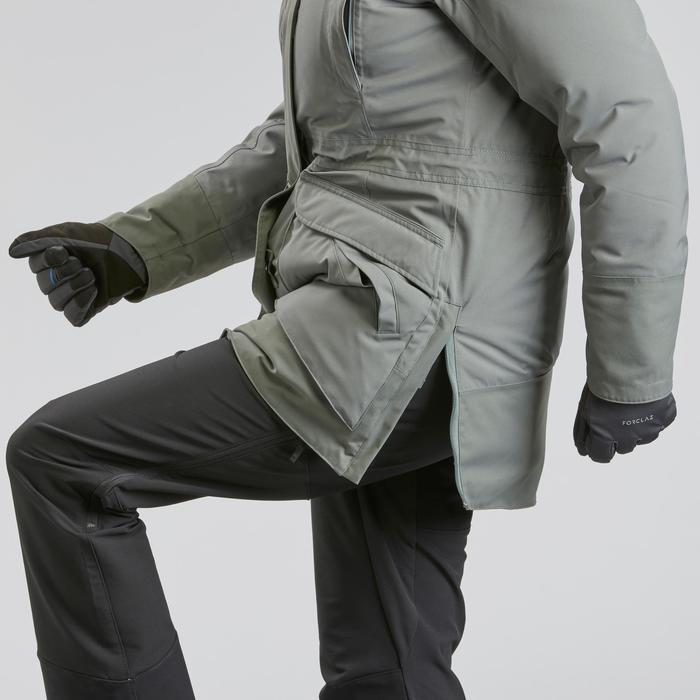 Winterjacke Parka Winterwandern SH500 Wasserdicht Ultra-warm Damen khaki