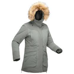 女款極致保暖健行防水連帽外套SH500