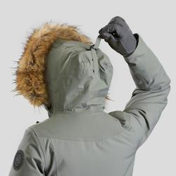Veste de randonnée neige femme SH500 ultra-warm kaki