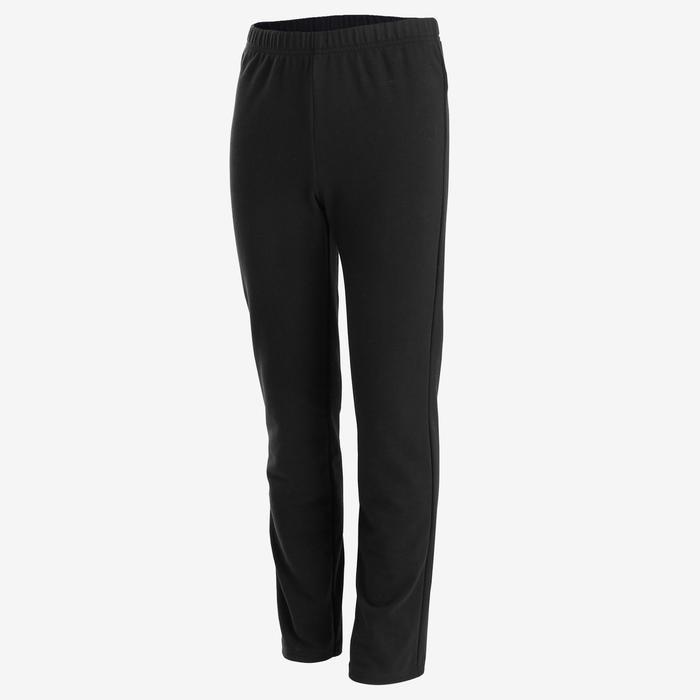 Survêtement chaud 100 garçon GYM ENFANT noir et bordeaux, pantalon noir