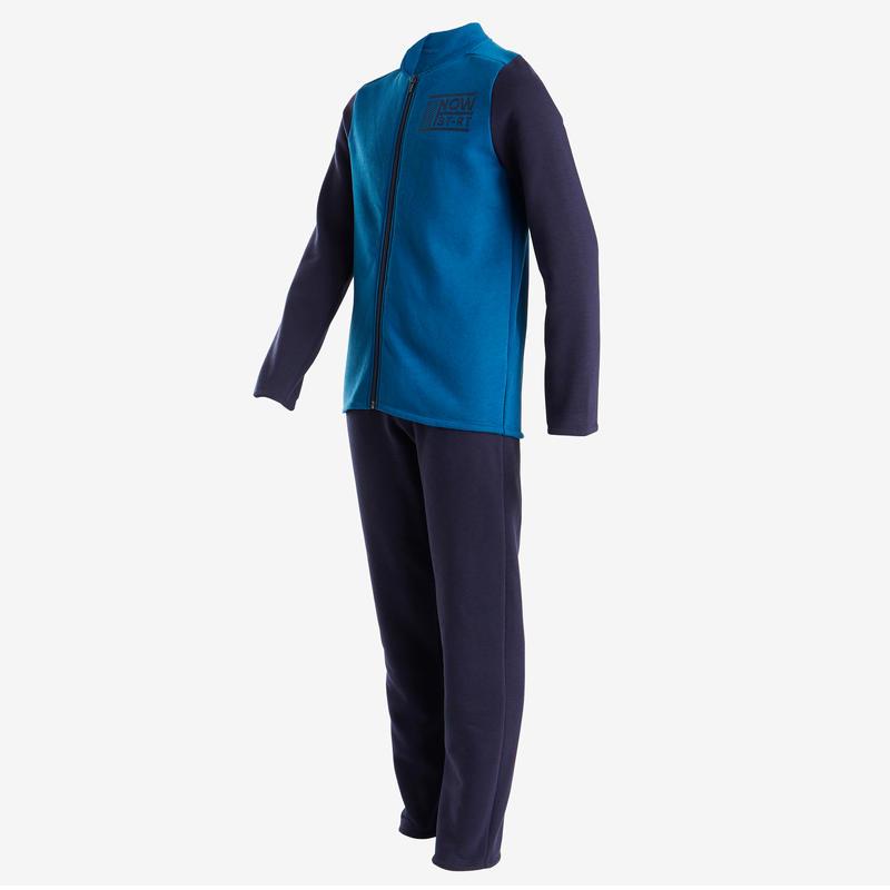 Conjunto Gimnasia Domyos Warm' Niño y Niña 5-15 Años Azul Cálido