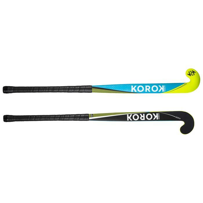 Stick de hockey sur gazon adulte confirmé midbow 30% carbone FH530 bleu
