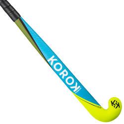 Hockeystick voor gevorderde volwassenen mid bow 30% carbon FH530 blauw