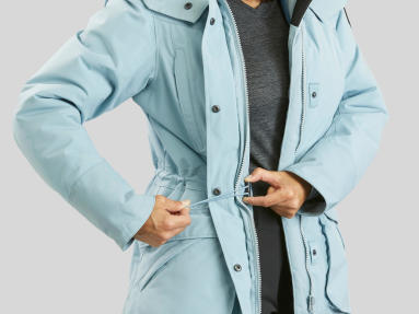 Snow hiking jacket - waist straps
