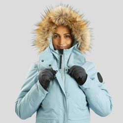 Winterjas dames SH500 ultra-warm ijsblauw