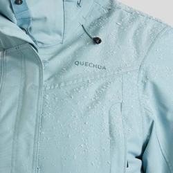 Winterjas dames SH500 ultra-warm ijsblauw