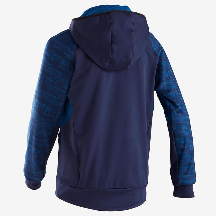 Kapuzenpullover warm, Synthetik atmungsaktiv S500 GYM Kinder (m) blau