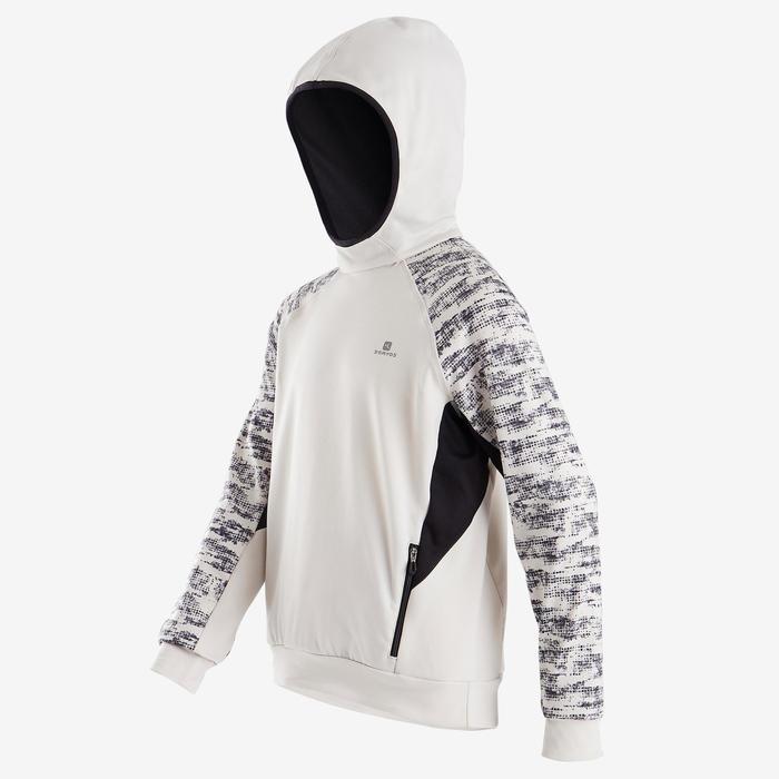 男童保暖透氣合成材質連帽衫S500 - 米色