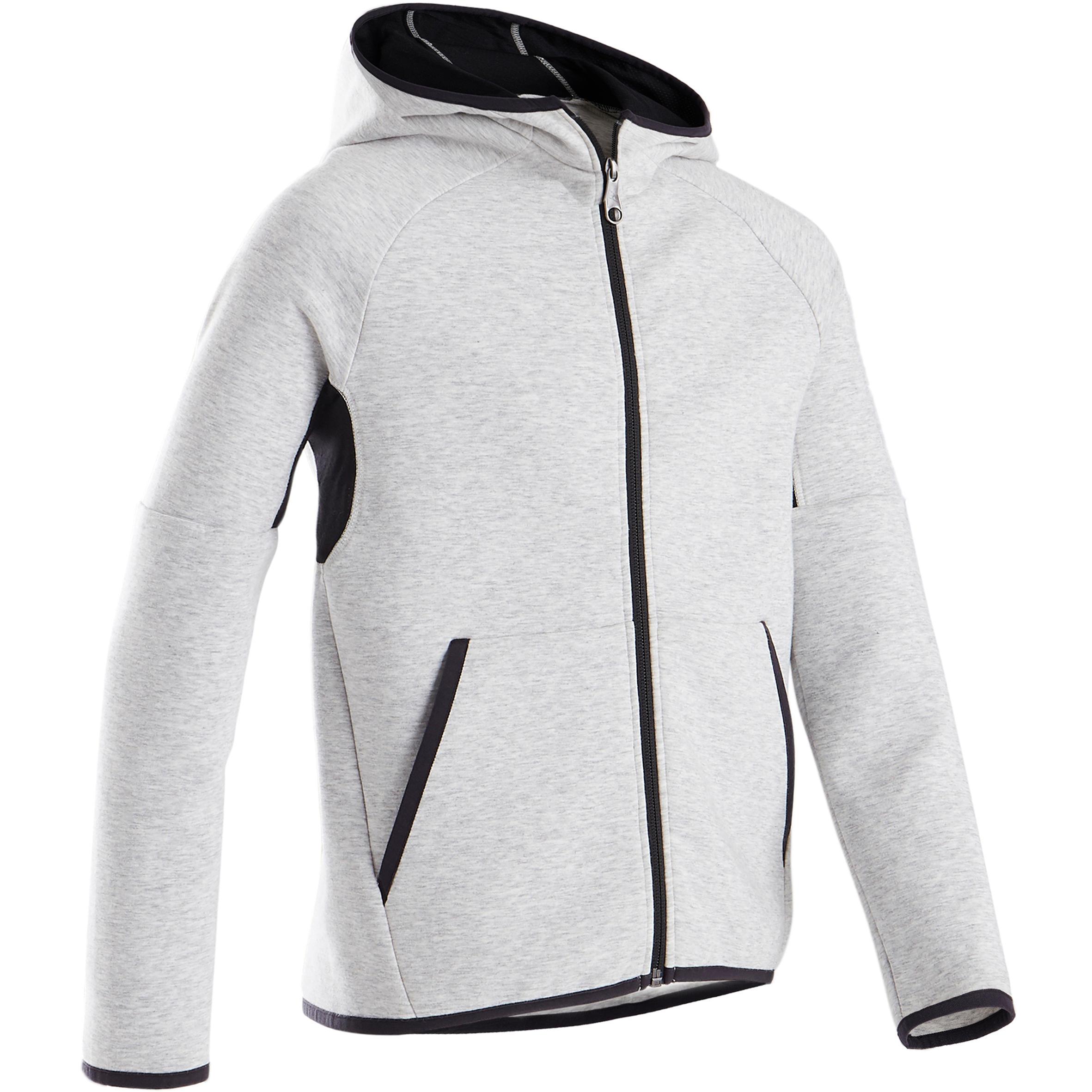 Jachetă bumbac 500B gri băieți