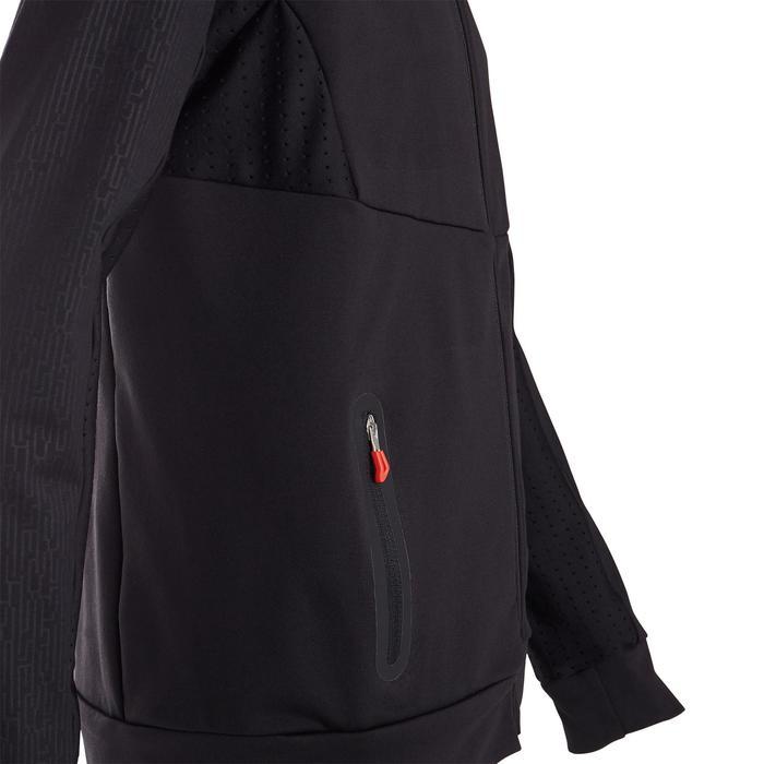 Veste chaude, respirante S900 garçon GYM ENFANT noir (touches de rouge)