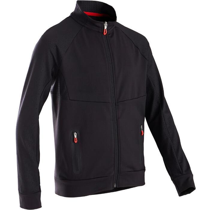 Trainingsjacke warm atmungsaktiv S900 Gym Kinder schwarz/etwas rot