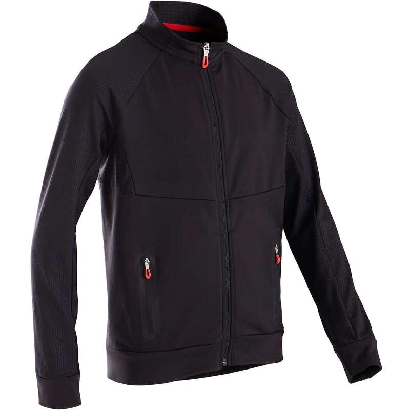 BOY EDUCATIONAL GYM COLD WEATHER APP Clothing - S900 Boys' Gym Jacket - Black DOMYOS - Tops