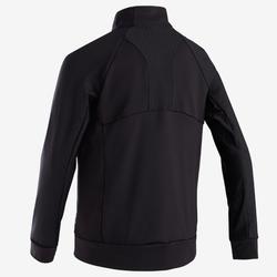 Warm en ademend gymvest voor jongens S900 zwart met rode accenten