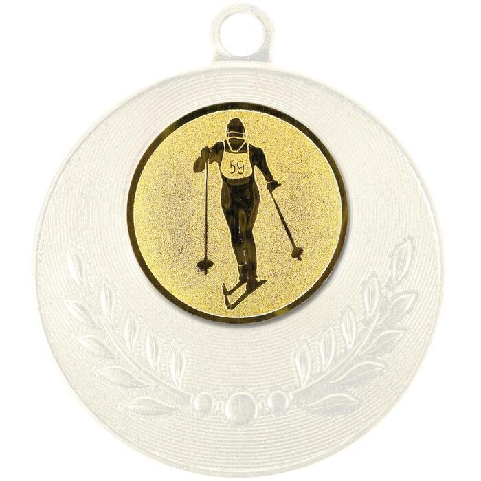 """Pastille adhésive """"Ski de fond"""" pour récompenses sportives"""