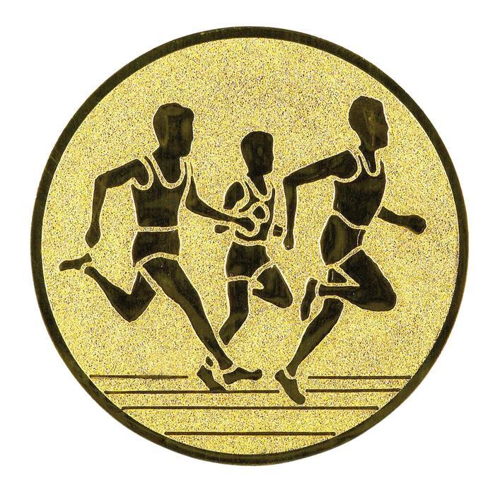 """Pastille adhésive """"Course à pied"""" pour récompenses sportives"""