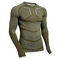Funktionsshirt langarm Keepdry 500 atmungsaktiv Erwachsene khaki