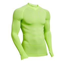 Thermoshirt Keepdry 500 lange mouw fluogeel
