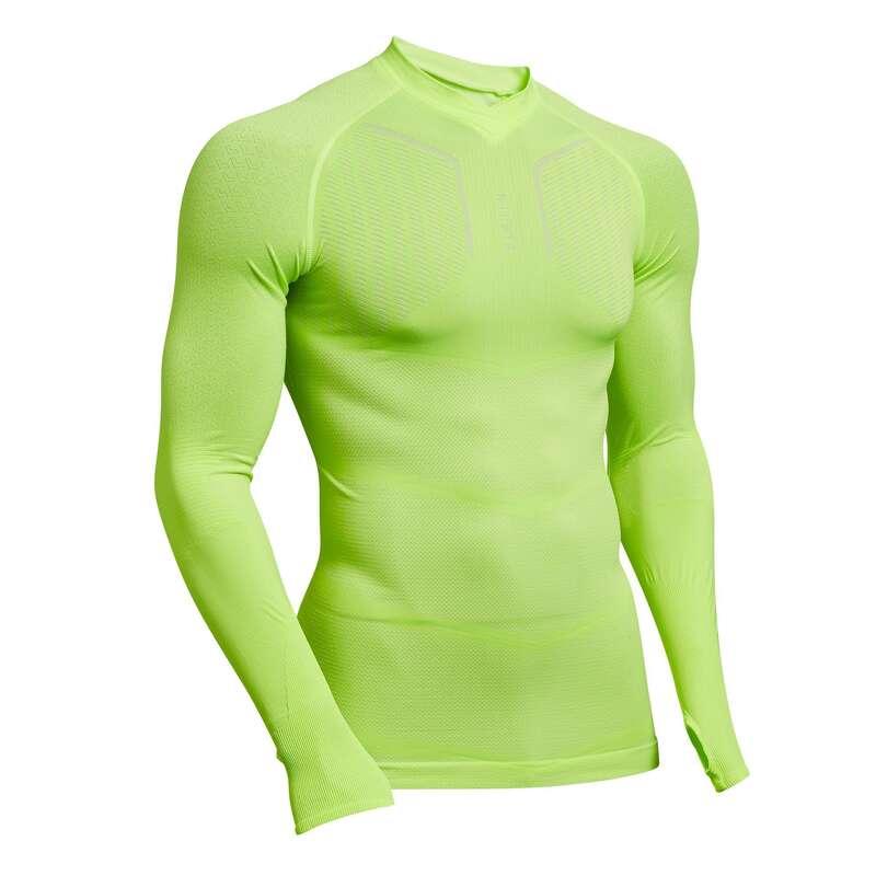 UNDERWEAR TEAM SPORT SENIOR Football - Keepdry 500 Adult Neon Yellow KIPSTA - Football Clothing