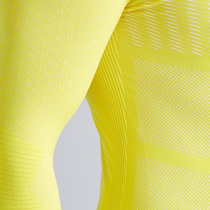 Camiseta Térmica Kipsta Keepdry 500 adulto amarillo