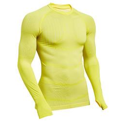 Sous-vêtement Keepdry 500 adulte manches longues football jaune