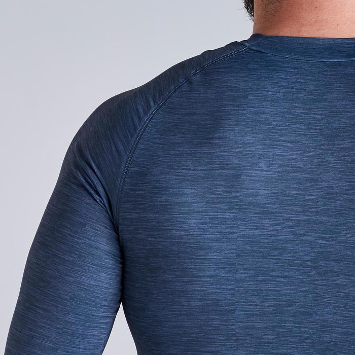 Funktionsshirt langarm Keepdry 100 atmungsaktiv Erwachsene grau meliert