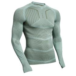 Adult Base Layer Keepdry 500 - Grey-Green