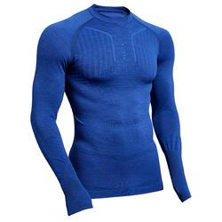 Funktionsshirt langarm Keepdry 500 atmungsaktiv Erwachsene blau meliert