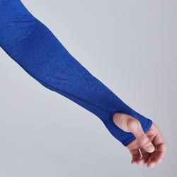 Funktionsshirt langarm Keepdry 500 atmungsaktiv Erwachsene blau