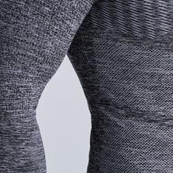 Funktionsshirt lang Keepdry 500 atmungsaktiv Erwachsene grau meliert