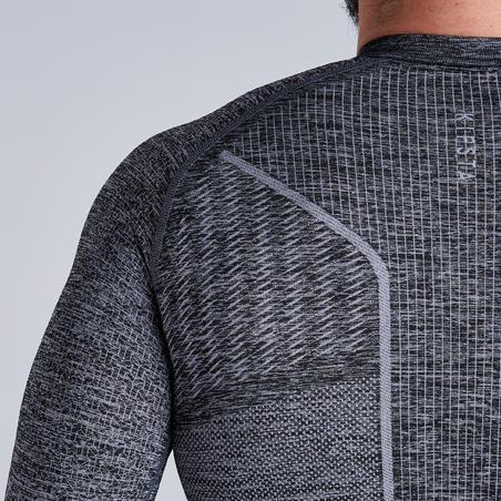 Sous-vêtement respirant 500 gris chiné - Adulte