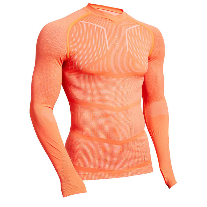 UNDERWEAR TEAM SPORT SENIOR Football - Keepdry 500 Adult - Orange KIPSTA - Football Clothing