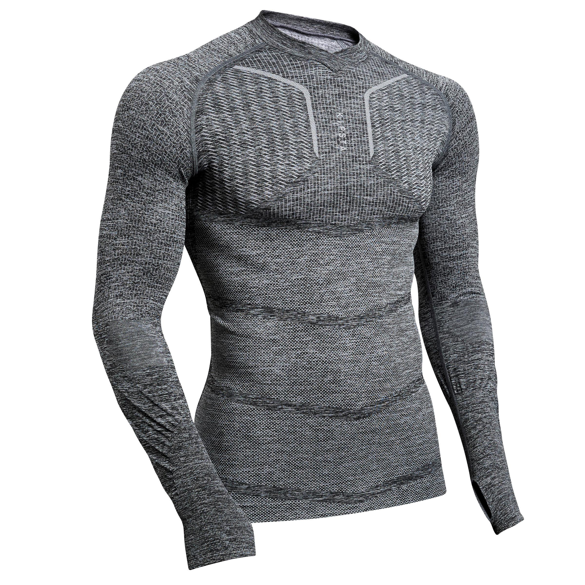 Funktionsshirt langarm Keepdry 500 atmungsaktiv Erwachsene | Bekleidung > Shirts > Funktionsshirts | Kipsta