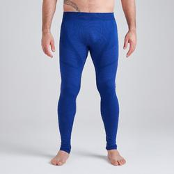 Collant adulte Keepdry 500 bleu chiné