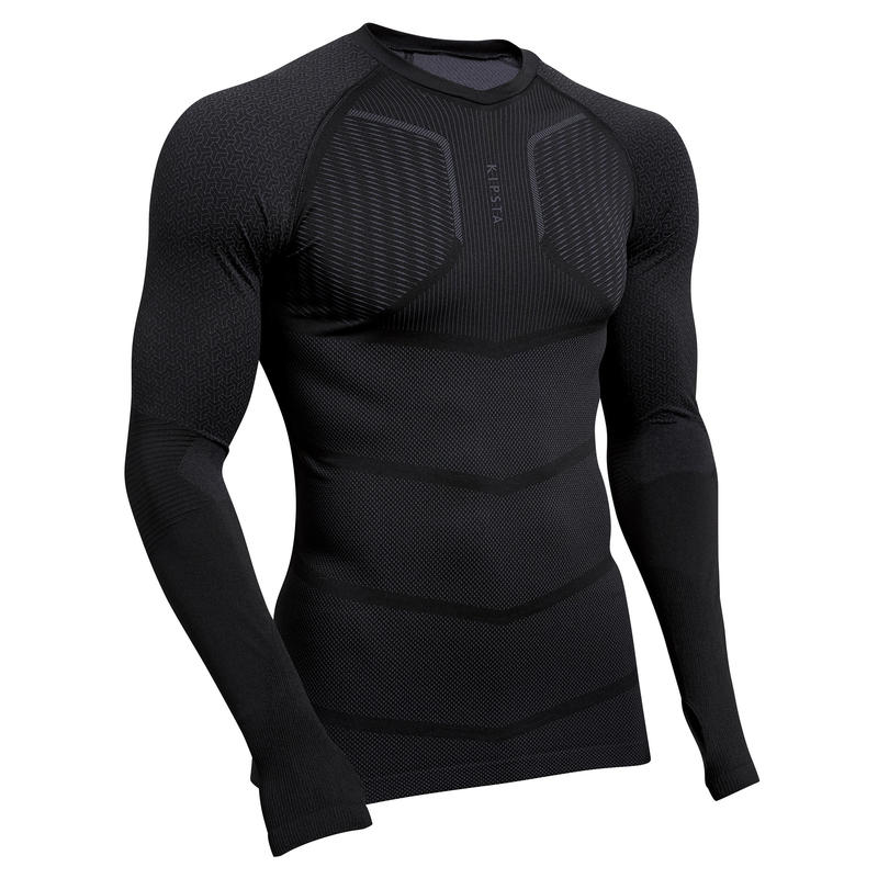 Keepdry 500 Men's Football Long-Sleeved Base Layer - black