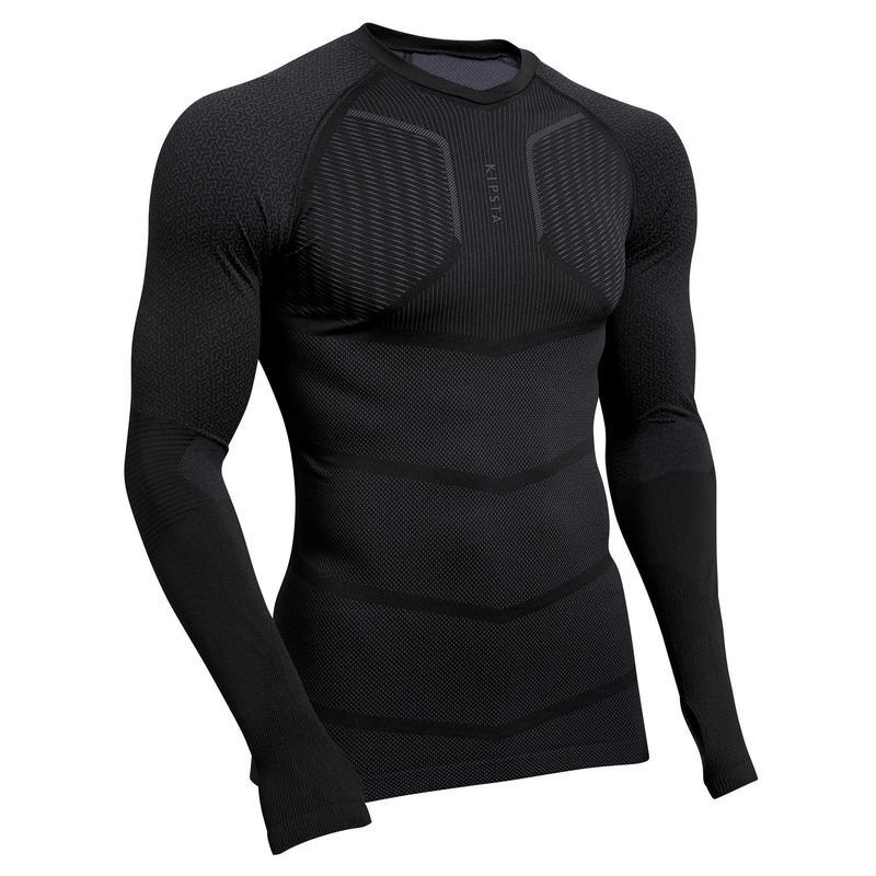 Sous-vêtement Keepdry 500 adulte manches longues football noir
