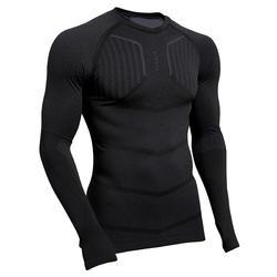 Ondershirt voor voetbal heren Keepdry 500 lange mouwen zwart