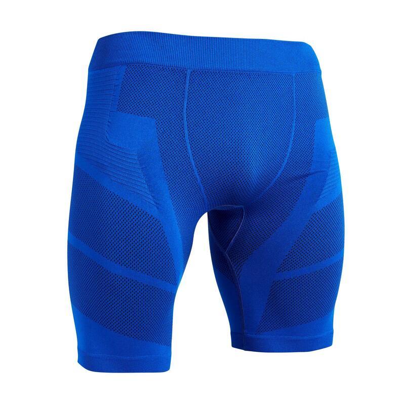 Pánské fotbalové spodní kraťasy Keepdry 500 džínově modré