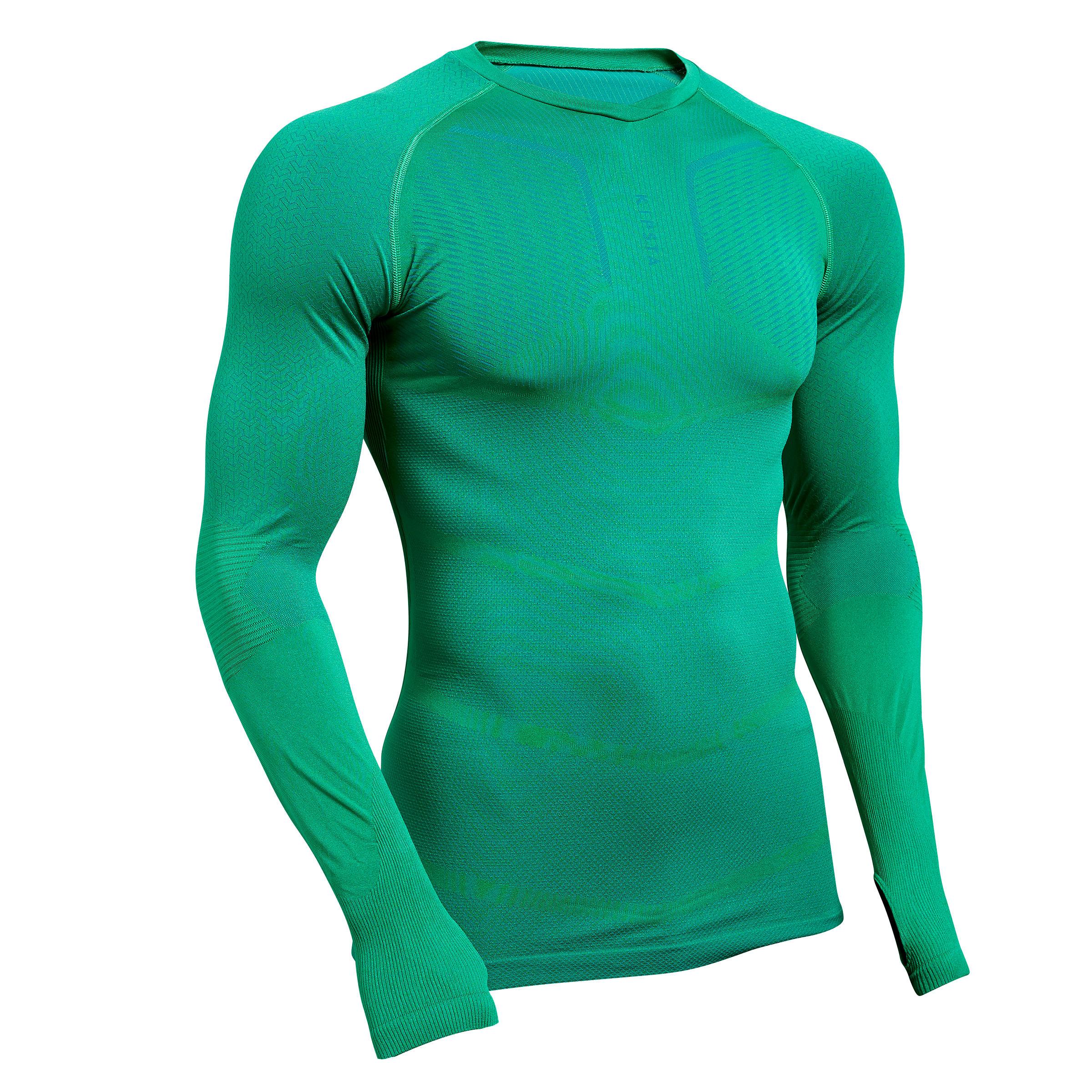 Funktionsshirt Keepdry 500 atmungsaktiv Erwachsene grün | Bekleidung > Shirts > Funktionsshirts | Kipsta