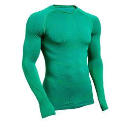 Ondershirt voor voetbal heren Keepdry 500 lange mouwen groen