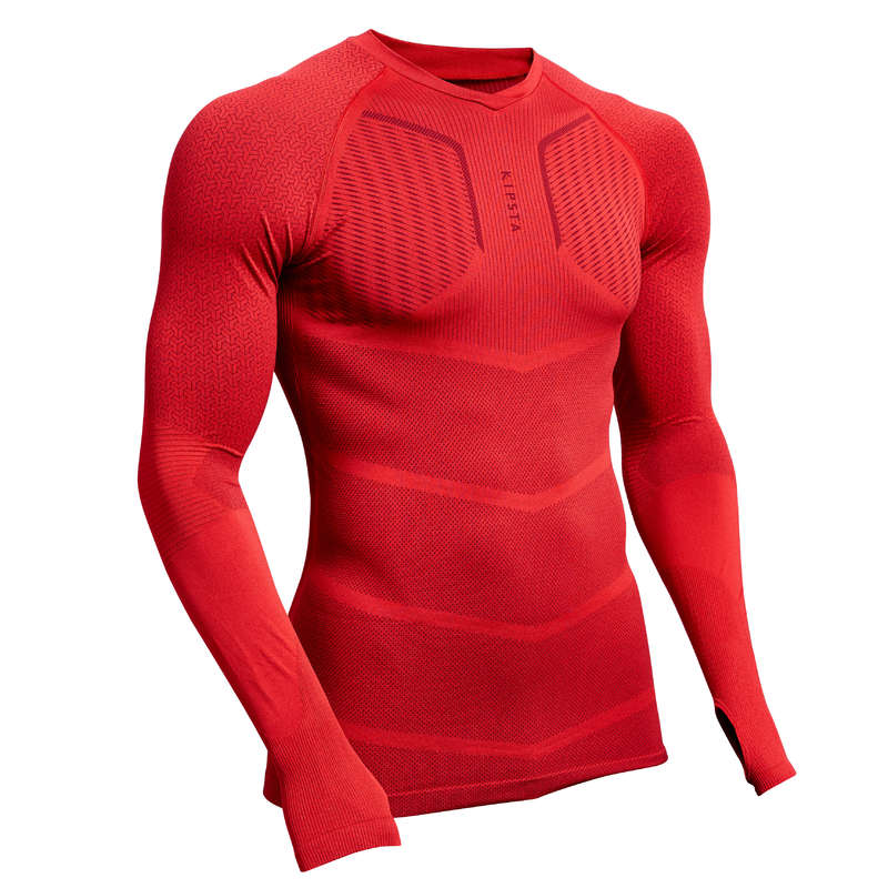 UNDERWEAR TEAM SPORT SENIOR Football - Keepdry 500 Adult Red KIPSTA - Football Clothing