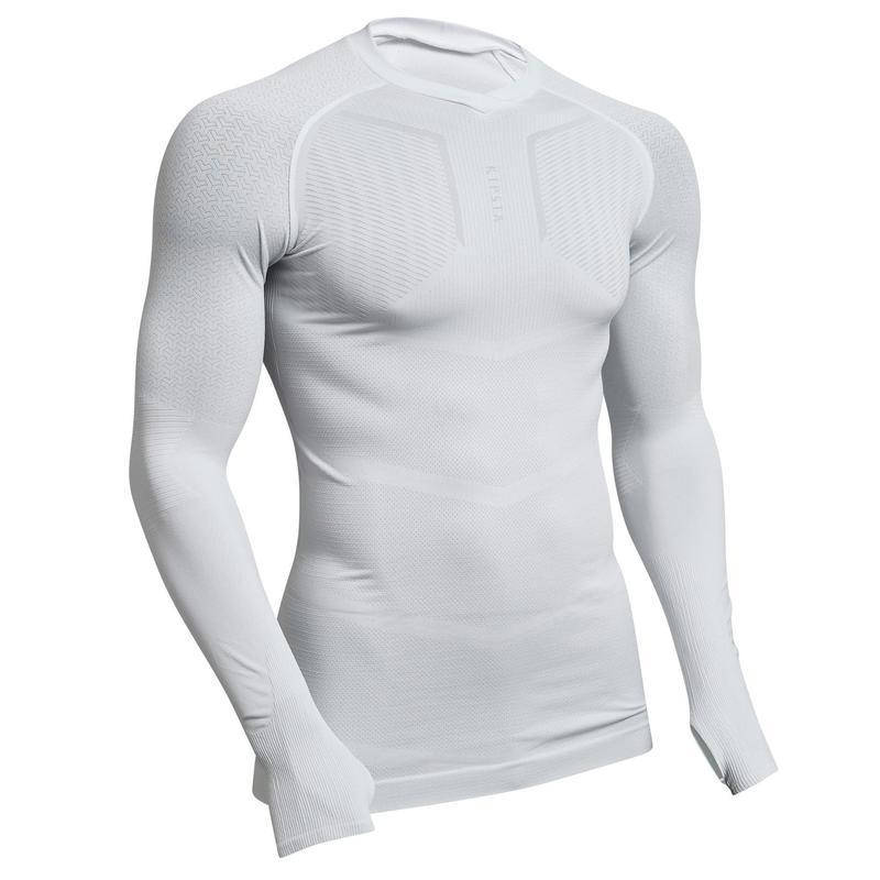 Sous-vêtement Keepdry 500 adulte manches longues football blanc