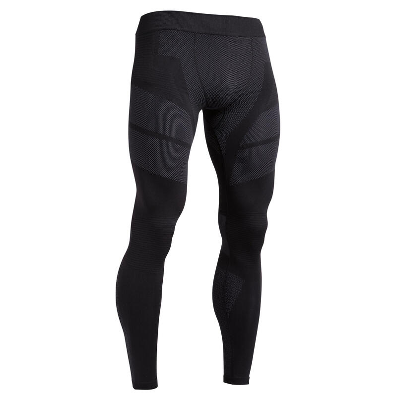 Men's Football Tights Keepdry 500 - Black