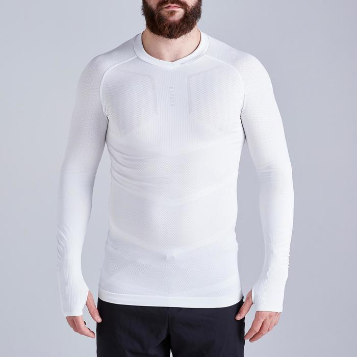 Thermoshirt Keepdry 500 lange mouw wit unisex
