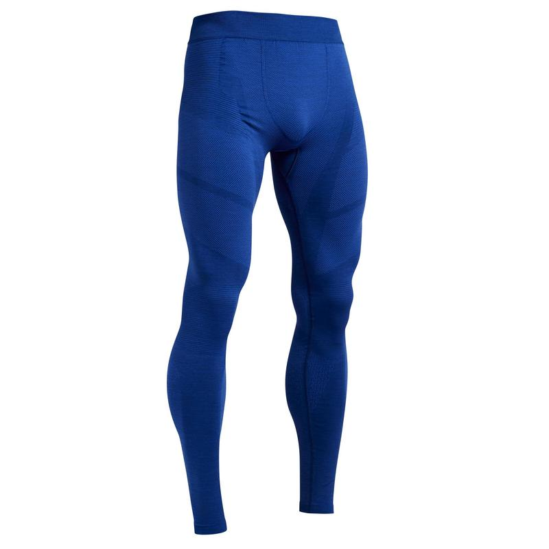 Men's Football Tights Keepdry 500 - Mottled Blue