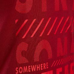 Gym T-shirt met korte mouwen voor jongens 100 rood met print