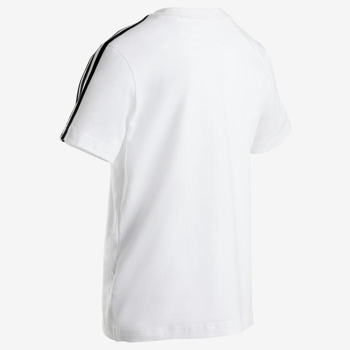 T-shirt garçon blanc avec 3 bandes adidas